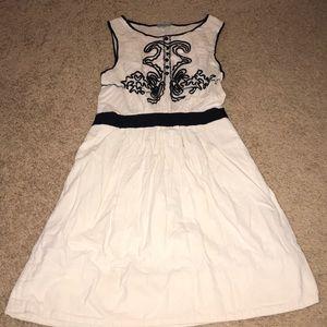 Anthropologie leifnotes beaitful cream dress!